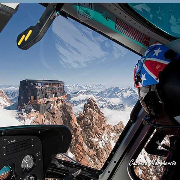 Elicottero Rosa : Tour elicottero monte rosa capanna margherita da